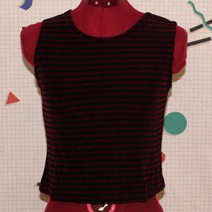 Handmade striped slinky top